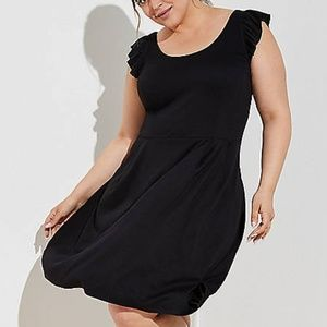 NWT LOFT Ruffle Strap Flare Dress Size 26